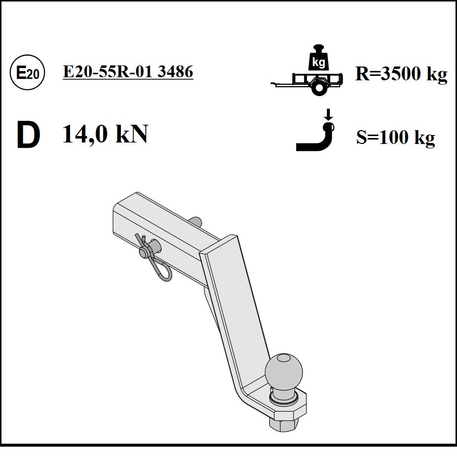 Für Chevrolet Orlando Anhängerkupplung Adapter US-Fahrzeuge tiefgezogener Kugel
